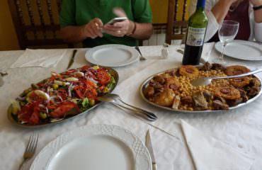 Special meal in Picos De Europa