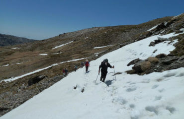 Walking Up To Siete Lagunas